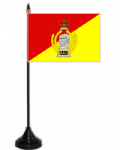Royal Armoured Corps Desk / Table Flag with plastic stand and base.